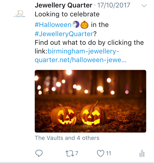 jewellery quarter social media
