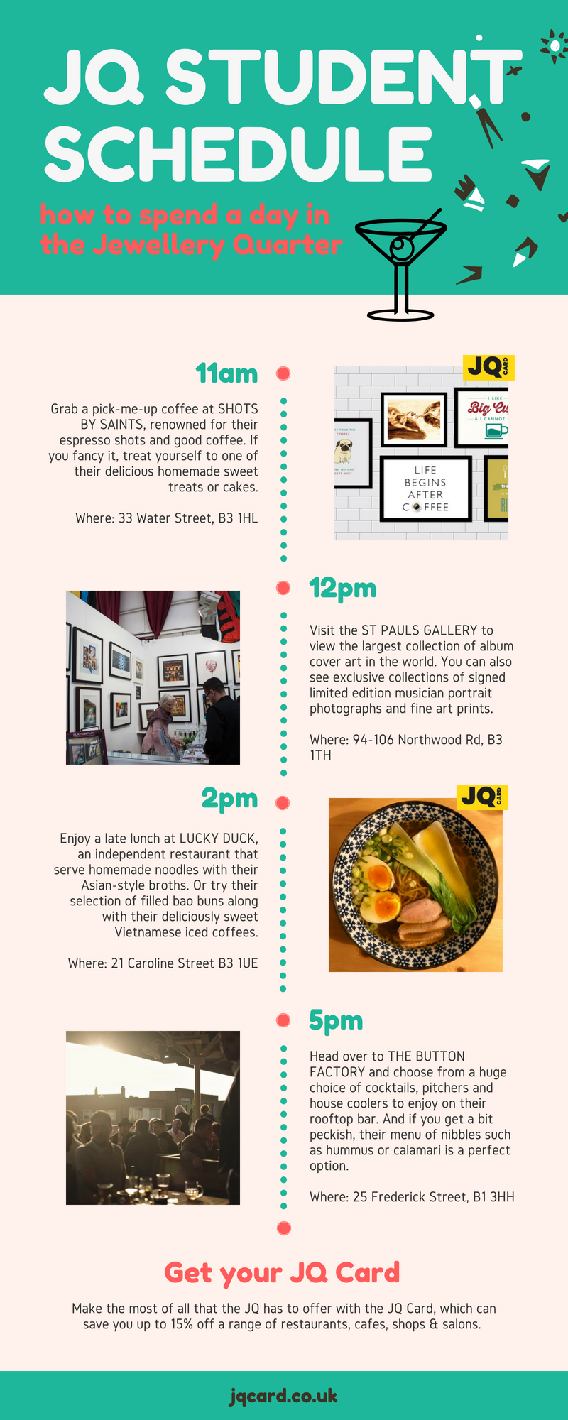Student Day Out In The JQ Infographic